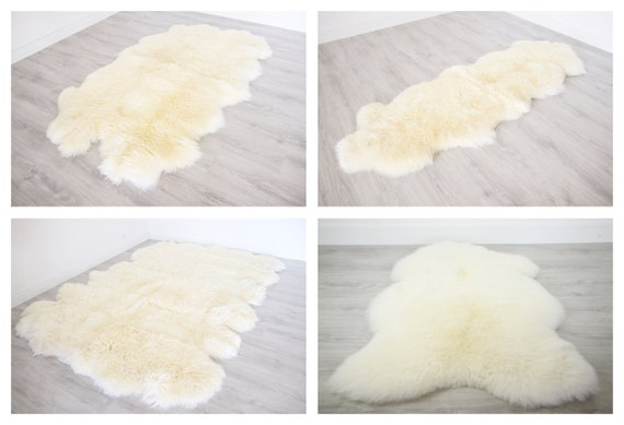 Sheepskin Rug | White Sheepskin Rug | Real Sheepskin rug | Sheepskin Throw |  Double Sheepskin Rug | Quatro Sheepskin Rug | Octo Shepskin