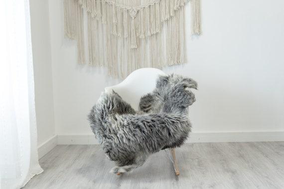 Real Sheepskin Rug Shaggy Rug Chair Cover Sheepskin Throw Sheep Skin White Gray Sheepskin Home Decor Rugs #Gut51