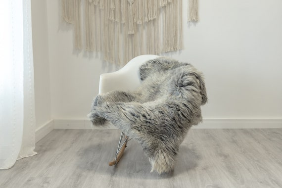 Real Sheepskin Rug Shaggy Rug Chair Cover Scandinavian Home Sheepskin Throw Sheep Skin White Gray Sheepskin Home Decor Rugs #Gut70