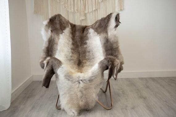 EXTRA LARGE Reindeer Hide | Reindeer Rug | Reindeer Skin | Throw XXL  - Scandinavian Style Christmas Decor Brown White Hide #Reindeer76