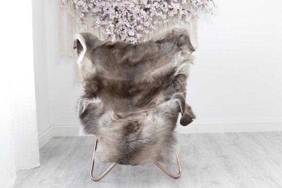 Reindeer Hide | Reindeer Rug | Reindeer Skin | Throw  - Scandinavian Style Christmas Decor Brown White Hide #Reindeer51