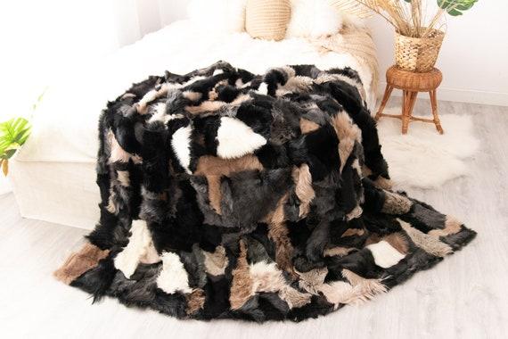 Luxurious Toscana Sheepskin Real Fur Throw   Real Fur Blanket   Sheepskin throw   Scandinavian Decor Sofa Sheepskin Sheep Skin Blanket Fu996