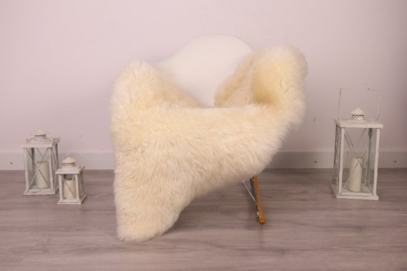 Real Sheepskin Rug Shaggy Rug Chair Cover Sheepskin Throw Sheep Skin White Sheepskin Home Decor Rugs #8her28