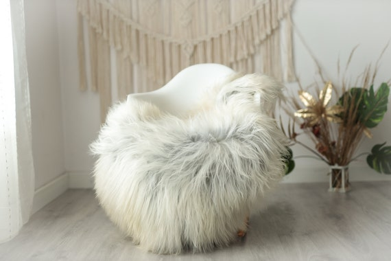 Real Icelandic Sheepskin Rug Scandinavian Decor Sofa Sheepskin throw Chair Cover Natural Sheep Skin Rugs Ivory Gray Fur Rug #Urisl30