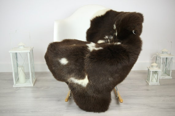 Sheepskin Rug | Real Sheepskin Rug | Shaggy Rug | Chair Cover | Sheepskin Throw | Brown Sheepskin | Home Decor | #JAC12