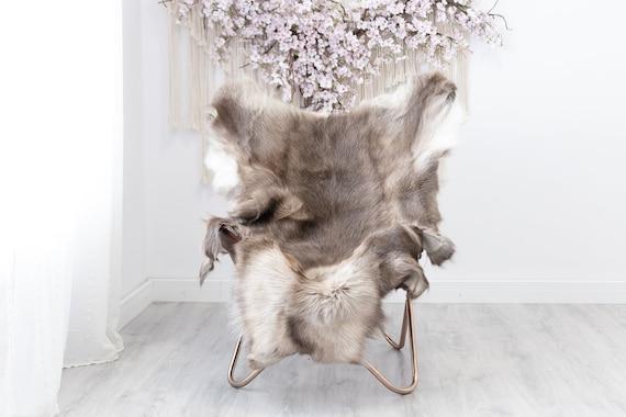 Reindeer Hide | Reindeer Rug | Reindeer Skin | Throw XXL EXTRA LARGE - Scandinavian Style Christmas Decor Brown White Hide #Reindeer39