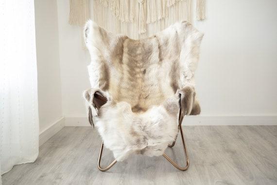 EXTRA LARGE Reindeer Hide | Reindeer Rug | Reindeer Skin | Throw XXL  - Scandinavian Style Christmas Decor Brown White Hide #Reindeer70