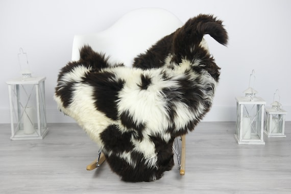 Real Sheepskin Rug Shaggy Rug Chair Cover Sheepskin Throw Sheep Skin Brown Sheepskin Home Decor Rugs #7her7