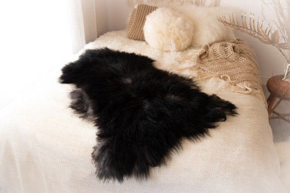 Real Icelandic Sheepskin Rug Scandinavian Decor Sofa Sheepskin throw Chair Cover Natural Sheep Skin Rugs Gray Black Blanket Fur Rug #KWAISL3