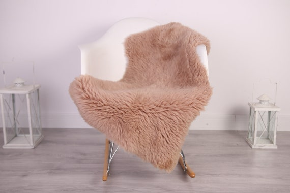 Real Sheepskin Rug Shaggy Rug Chair Cover Sheepskin Throw Sheep Skin Champagne Sheepskin Home Decor Rugs #HERDZ28