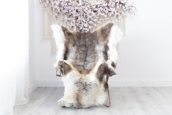 Reindeer Hide | Reindeer Rug | Reindeer Skin | Throw XXL EXTRA LARGE - Scandinavian Style Christmas Decor Brown White Hide #Reindeer36