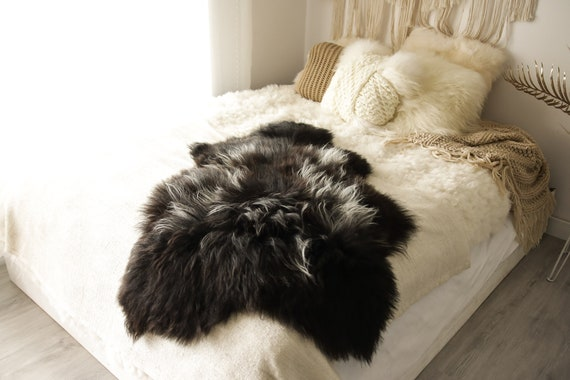 Real Icelandic Sheepskin Rug Scandinavian Decor Sofa Sheepskin throw Chair Cover Natural Sheep Skin Rugs White Fur Rug #Islbeau22