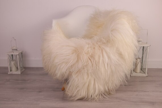 Real Icelandic Sheepskin Rug Scandinavian Decor Sofa Sheepskin throw Chair Cover Natural Sheep Skin Rugs Beige Ivory Blanket Fur Rug #Am33