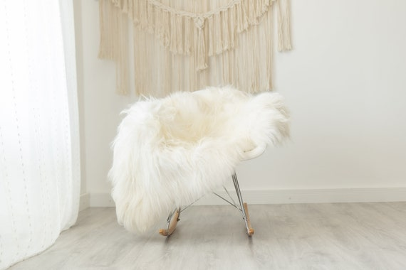 Real Icelandic Sheepskin Rug Scandinavian Decor Sofa Sheepskin throw Chair Cover Natural Sheep Skin Rugs White Ivory #Iceland378