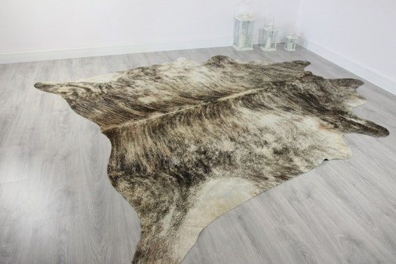 Premium Quality Giant XXXL Cowhide | Real Cowhide Rug | Brindle Cowhide | #COW10