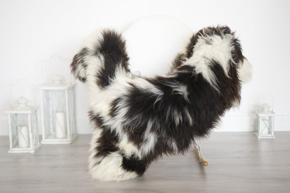 Real Sheepskin Rug Shaggy Rug Chair Cover Sheepskin Throw Sheep Skin Brown White Sheepskin Home Decor Rugs #6her54