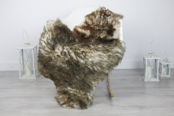 Real Sheepskin Rug Shaggy Rug Chair Cover Sheepskin Throw Sheep Skin Brown Sheepskin Home Decor Rugs #7her5
