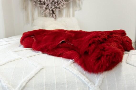 Genuine Natural Red Sheepskin Rug Sheepskin Throw Scandinavian Style | Scandinavian Rug | Sheep Skin -  WHOLESALE PACK 10 PIECES