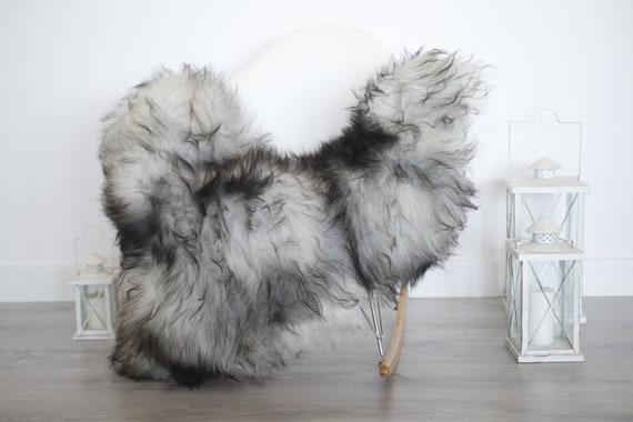 Real Icelandic Sheepskin Rug Scandinavian Decor Sofa Sheepskin throw Chair Cover Natural Sheep Skin Rugs Gray Blanket Fur Rug #isleb29