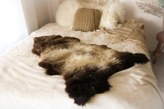 Real Sheepskin Rug Shaggy Rug Chair Cover Sheepskin Throw Sheep Skin Brown Gray Sheepskin Home Decor Rugs #OCTHER67