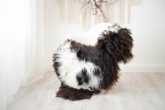 Real Sheepskin Rug Shaggy Rug Chair Cover Scandinavian Home Sheepskin Throw Sheep Skin White Brown Sheepskin Home Decor Rugs #herdwik271