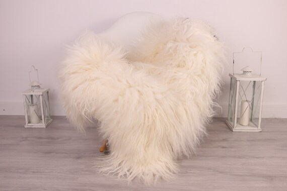 Real Icelandic Sheepskin Rug Scandinavian Decor Sofa Sheepskin throw Chair Cover Natural Sheep Skin Rugs Black White Blanket Fur Rug #Am11