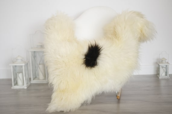 Real Sheepskin Rug Shaggy Rug Chair Cover Sheepskin Throw Sheep Skin Brown White Sheepskin Home Decor Rugs #6her56