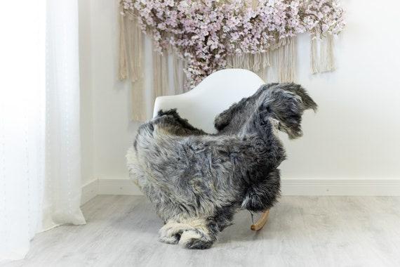 Real Sheepskin Rug Shaggy Rug Chair Cover Scandinavian Home Sheepskin Throw Sheep Skin Ivory Gray Sheepskin Home Decor Rugs #herdwik121