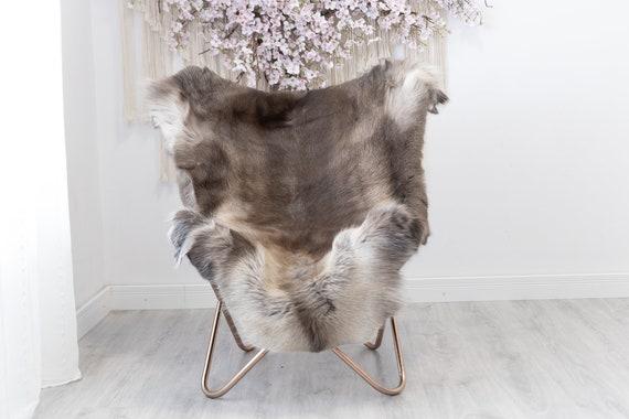 Reindeer Hide | Reindeer Rug | Reindeer Skin | Throw  - Scandinavian Style Christmas Decor Brown White Hide #Reindeer52