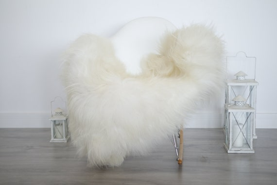 Real Icelandic Sheepskin Rug Scandinavian Decor Sofa Sheepskin throw Chair Cover Natural Sheep Skin Rugs Ivory Blanket Fur Rug #isleb24