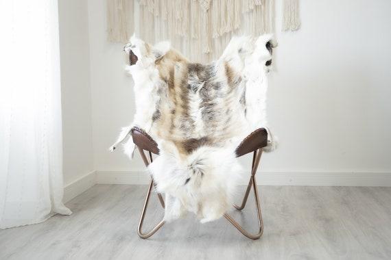 Reindeer Hide | Reindeer Rug | Reindeer Skin | Throw XXL EXTRA LARGE - Scandinavian Style Christmas Decor Brown White Hide #Reindeer79