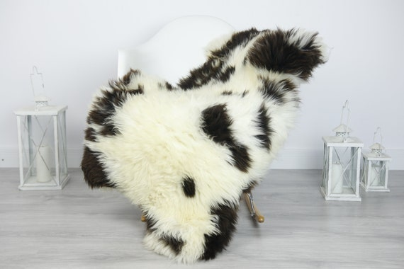 Real Sheepskin Rug Shaggy Rug Chair Cover Sheepskin Throw Sheep Skin Brown Sheepskin Home Decor Rugs #7her21