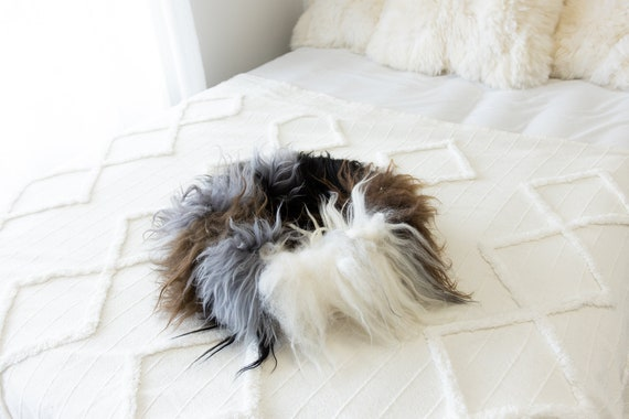 Sheepskin Cat Bed Or Dog Bed Cat Cave Unique Pet Bed Cat House Pet Furniture Hand Made With Genuine Real Sheepskin XXL Extra Large #Bed9