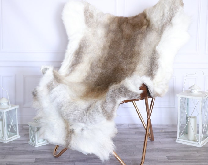 Reindeer Hide | Reindeer Rug | Reindeer Skin | Throw Large  -XXL EXTRA LARGE Scandinavian Style #22RE21