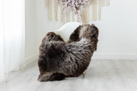 Real Sheepskin Rug Shaggy Rug Chair Cover Scandinavian Home Sheepskin Throw Sheep Skin Brown Sheepskin Home Decor Rugs #herdwik239