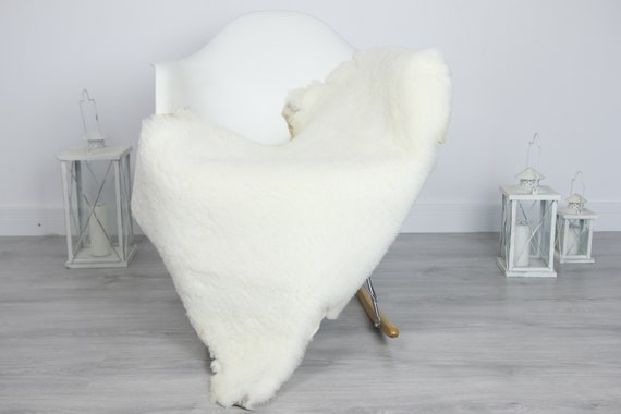 Real Sheepskin Rug Shaggy Rug Chair Cover Sheepskin Throw Sheep Skin White Sheepskin Home Decor Rugs #7her51