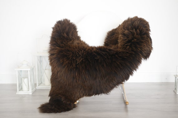 Real Sheepskin Rug Shaggy Rug Chair Cover Sheepskin Throw Sheep Skin Brown White Sheepskin Home Decor Rugs #6her52