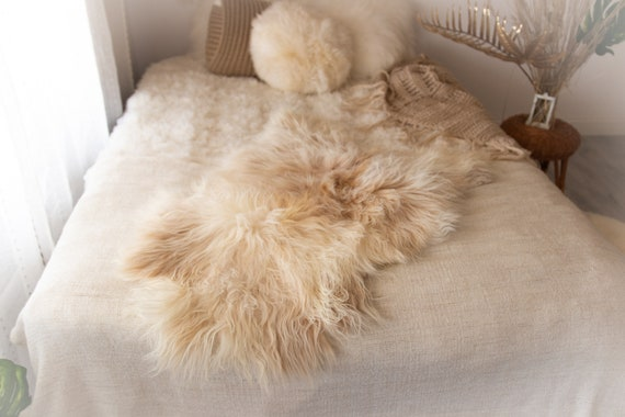 Real Icelandic Sheepskin Rug Scandinavian Decor Sofa Sheepskin throw Chair Cover Natural Sheep Skin Rugs Ivory Blanket Fur Rug #KWAISL2