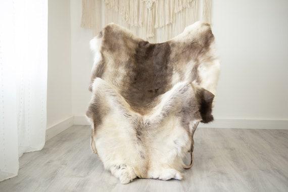 EXTRA LARGE Reindeer Hide | Reindeer Rug | Reindeer Skin | Throw XXL  - Scandinavian Style Christmas Decor Brown White Hide #Reindeer69
