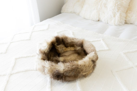 Sheepskin Cat Bed Or Dog Bed Cat Cave Unique Pet Bed Cat House Pet Furniture Hand Made With Genuine Real Sheepskin XXL Extra Large #Bed20