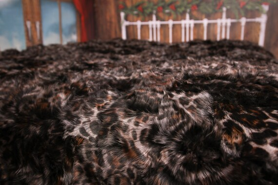Luxurious Toscana Sheepskin Real Fur Bed Spread Throw Real Fur Blanket Sheepskin throw Sofa Cover Luxury Blanket Comforter Brown #FU23