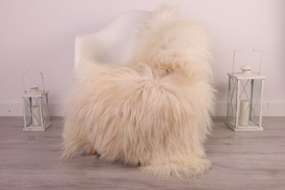 Real Icelandic Sheepskin Rug Scandinavian Decor Sofa Sheepskin throw Chair Cover Natural Sheep Skin Rugs Ivory Blanket Fur Rug #kefisl7