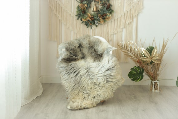 Real Sheepskin Rug Shaggy Rug Chair Cover Sheepskin Throw Sheep Skin Gray Ivory Sheepskin Home Decor Rugs #Gut3