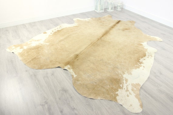 Premium Quality Giant XXXL Cowhide | Real Cowhide Rug | Sand White Cowhide | #COW15