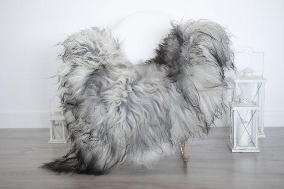 Real Icelandic Sheepskin Rug Scandinavian Decor Sofa Sheepskin throw Chair Cover Natural Sheep Skin Rugs Gray Blanket Fur Rug #isleb20