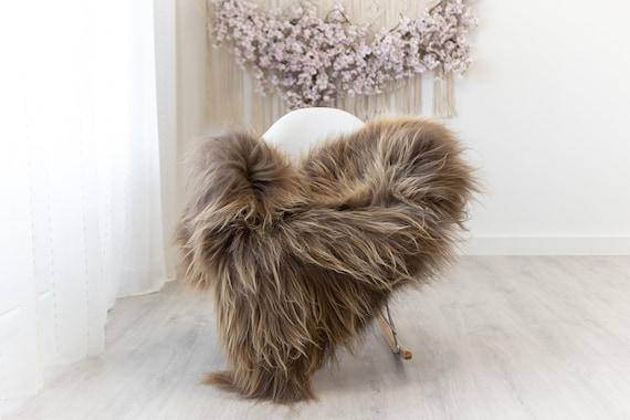 Real Icelandic Sheepskin Rug Scandinavian Home Decor Sofa Sheepskin throw Chair Cover Natural Sheep Skin Rugs Brown #Iceland303