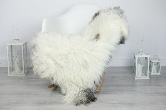 Real Sheepskin Rug Shaggy Rug Chair Cover Sheepskin Throw Sheep Skin White Sheepskin Home Decor Rugs #7her28