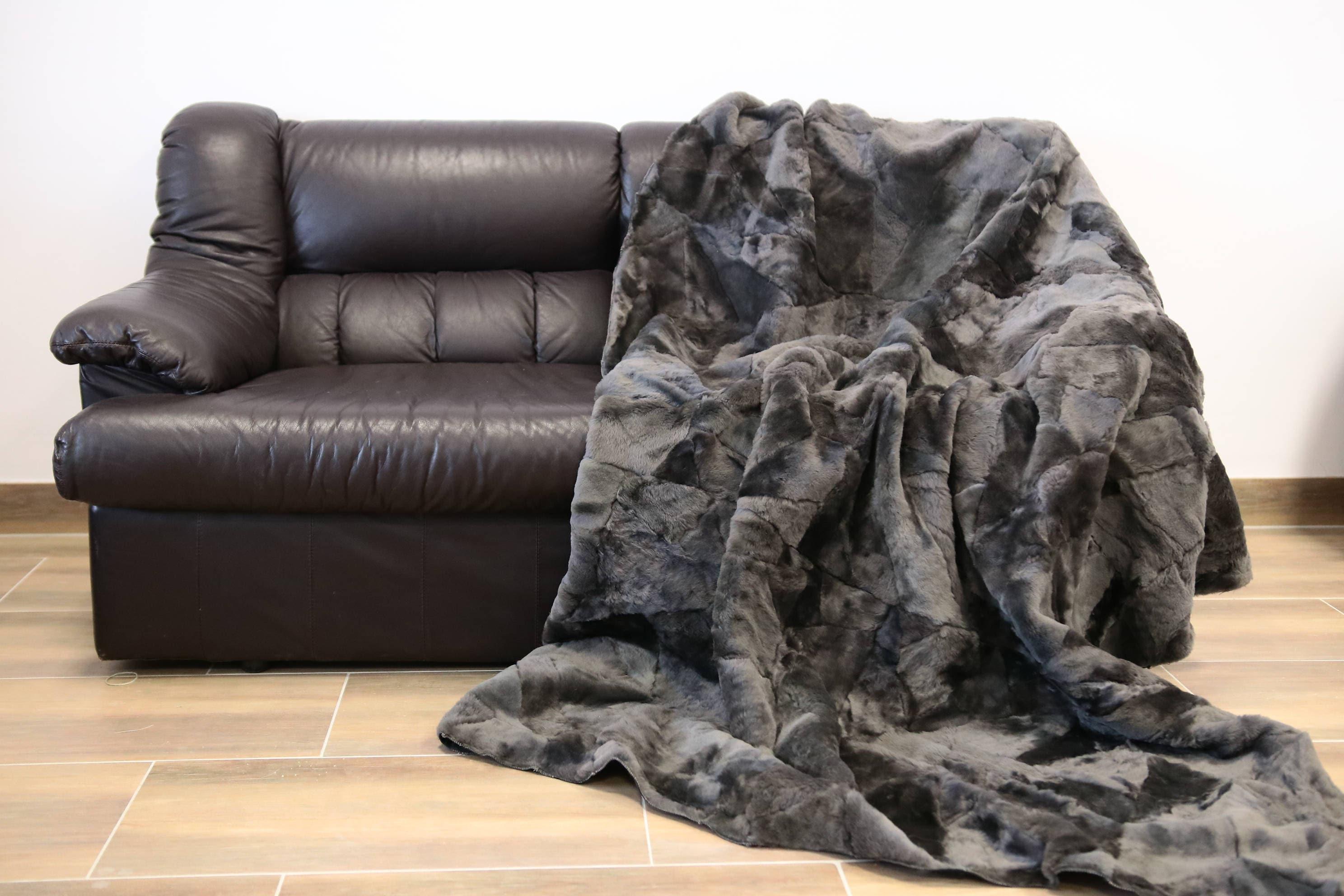 Exclusive Real Sheepskin Blanket Throw, Fur Sofa Throw, Scandinavian  Decoration, Throws For Sofa, Sofa Throws, Luxury Throws