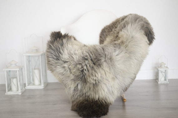 Real Sheepskin Rug Shaggy Rug Chair Cover Sheepskin Throw Sheep Skin Brown White Sheepskin Home Decor Rugs #6her55