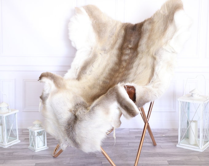 Reindeer Hide | Reindeer Rug | Reindeer Skin | Throw Large  -XXL EXTRA LARGE Scandinavian Style #22RE22